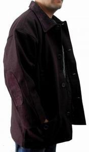 Mens Burgundy long sleeve wool jacket Quater Length Wool Jacket Coat M-2X