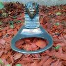 VINTAGE ART DECO EGYPTIAN PHARAOH METAL ASHTRAY HOLDER Egypt ash tray desk mount