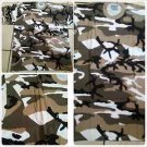 Brown Camouflage short sleeve T shirt Mens Shaka Wear Camouflage T shirt 3XL