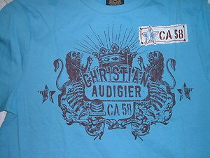 Blue short sleeve t shirt by Christian Audigier blue short sleeve tee shirt NWT