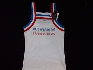Girls White PUERTO RICO Tank Top Jersey PUERTO RICO Sleeveless Jersey T shirt XL