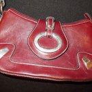 Wonmen Burgundy shoulder bag Burgunyshoulder bag purse Snap up purse Vintage bag