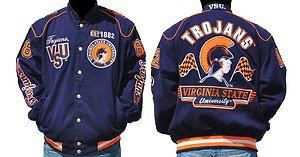 Virginia State Trojans Race Jacket Virginia State Twill College Jacket  M-4X