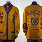 Q Psi Phi Gold Long Sleeve Cardigan sweater S-5XL