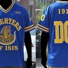 Daughters of Isis Blue Long Sleeve jersey Womens Football Jersey Masonic S-4X