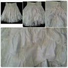 Womens White polyester Lace Skirt Women's tier lace dress casual skirt size M