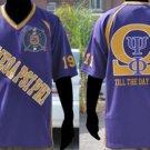 Purple Omega Psi Phi Football Jersey Q Dog Purple Football Jersey Q Dogs L-6X