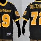 Mens Black Arkansas Pine Bluff University short sleeve football jersey S-4X
