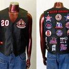 Negro League leather vest M-5X Mens leather sleeveless Negro League Vest NWT