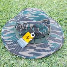 ARMY GREEN CAMOUFLAGE FISHING WIDE  CASUAL BUCKET HAT BOONEY SAFARI WOODS L/XL