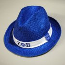 ZETA PHI BETA Blue Fedora Hat Womens Fedora NEW