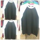 White Black Long sleeve baseball T shirt  PRO CLUB BASEBALL TEE  S-2X