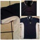 Blue White polo shirt short sleeve cotton blend short sleeve polo shirt  2X,3X