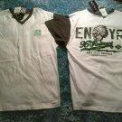 Enyce white gray short sleeve V neck T shirt Gray white short sleeve t shirt L