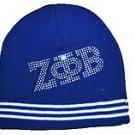 ZETA PHI BETA BLUE  SKULL CAP BEENIE CAP BLING SORORITY BEENIE Beanie #3