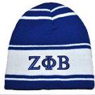 ZETA PHI BETA BLUE WHITE SKULL CAP BEENIE CAP SORORITY BEENIE Beanie #1
