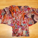 Womens red black white short sleeve blouse Womens Strapless blouse shirt L