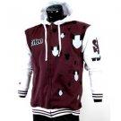 Skater hoodie jacket by SCIFEN long sleeve hoody jacket Skater Jacket XL-4 Red