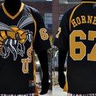 Mens short sleeve football jersey Alabama State football jersey S-4X HORNETS
