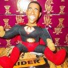 "President Barack Obama Talking Doll Key Chain ""Yes We Can"" Super Hero doll Black"
