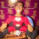 "Barack Obama Super President Talking Doll Key Chain ""Yes We Can"" Super Hero doll"