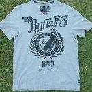 Buffalo David Bitton Gray SHORT SLEEVE V NECK T SHIRT Buffalo V NECK T SHIRT L