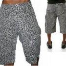 SHMACK Gray Camouflage cargo shorts Gray Cheetah print cargo board shorts W36-40