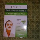 ALOE AND CUCUMBER COLLAGEN FACE MASK by NU-PORE NIB