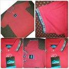 Mens Red black polo shirt short sleeve cotton blend short sleeve polo shirt  XL