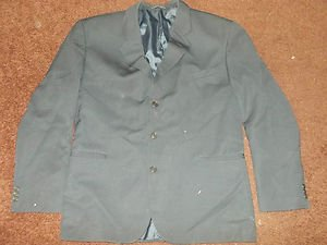 Blue long sleeve Wool Blazer suit Coat Jacket Mario Rossi Wool blazer Jacket 46R