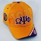 OMEGA PSI PHI GOLD BASEBALL HAT 1911 FOUNDERS DAY CAP Q DOG BASEBALL CAP