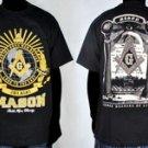 Mens Black short sleeve Mason T shirt Masonic T shirt