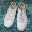Womens white low top running cross training shoe Skechers jogging shoe SZ11