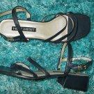 Womens Black Nine West Shoes Flats Strap up shoe Nine West Black Flats SZ10 US