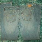 Womens Levis Blue denim jean pants Levis 515 BOOT CUT Denim Jeans 30WX27L 8M