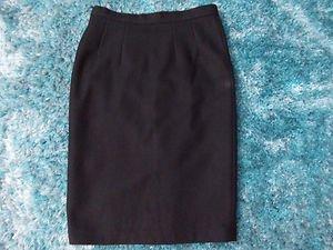 Womens black wool skirt Wool Skirt Womens Wool Pleated Skirt 28W