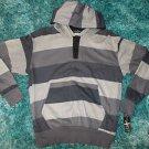 Gray Black stripe long sleeve hoodie hoody sweater Long sleeve hoody sweater SML
