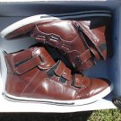 Mens Aldo Brown High top sneaker shoe boots Aldo Godown-62 zip up sneaker 43/10