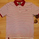 Live Mechanics red White strip polo shirt Mens button up short sleeve polo 4XL