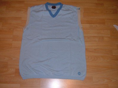 Blue sleeveless V neck Sweater Mecca Light Blue V Neck Sweater XLT