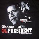 President Barack Obama 44th President Black short sleeve T shirt Tee L 2XL