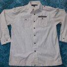 Sean John Long sleeve button up shirt Mens Cream Corduroy long sleeve shirt M