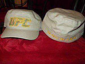 UFC TAN CADET HAT ULTIMATE FIGHTING CHAMPIONSHIP Camoflauge Tan captains Hat LG