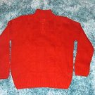 Mens red long sleeve sweater by Johnny J Dark red long sleeve sweater XL 2X