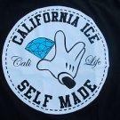 California ICE black short sleeve T shirt Self Made Cali short sleeve Tee M-XL