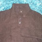 Mens Brown long sleeve sweater by Johnny J Dark Brown long sleeve sweater M XL