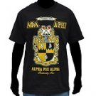 Alpha Phi Alpha short sleeve T shirt Black Alpha Phi Alpha Fraternity T shirt