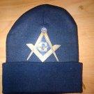 Masonic Mason Freemasonry Beenie Navy Blue Masonic skull Cap Freemason Beanie