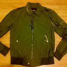 Olive green long sleeve jacket Army green military style jacket coat S-2XL
