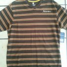 Rocawear Brown short sleeve V neck T shirt V-neck stripe short sleeve t shirt M